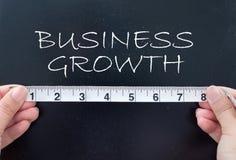 Het meten van de bedrijfsgroei royalty-vrije stock afbeelding