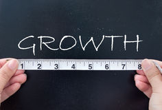 Het meten van de groei royalty-vrije stock afbeelding