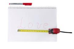 Het Meten van de liefde Stock Foto's