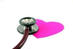 Het meten van hart stock foto