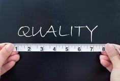 Het meten van kwaliteit Stock Foto's