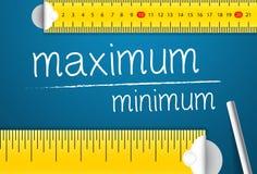 Het meten van Maximum en Minimumwaarde Concept van hoe te om Normen van Maximum en Minimum te meten royalty-vrije illustratie