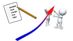 Het meten van prestaties Stock Foto