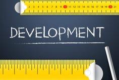Het meten van projectontwikkeling Diverse manier om de menselijke ontwikkeling van het land te meten indexeert of zijn van beheer Royalty-vrije Stock Afbeelding