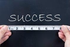 Het meten van succes royalty-vrije stock fotografie