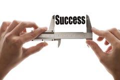 Het meten van succes royalty-vrije stock afbeeldingen