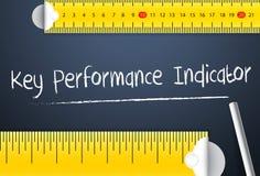 Het meten van zeer belangrijke prestatie-indicator Diverse manier van meting van de belangrijkste prestatie-indicator of kpi van  Royalty-vrije Stock Fotografie