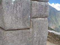 Het metselwerk van Machu Picchu Royalty-vrije Stock Fotografie