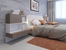 Slaapkamer met oranje muur stock foto 39 s 82 slaapkamer met - Deco hoofdslaapkamer ...
