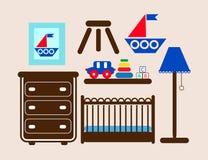 Het meubilair van de de jongensruimte van de baby Royalty-vrije Stock Afbeeldingen