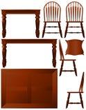 Het meubilair van de eetkamer Stock Afbeeldingen