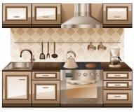 Het meubilair van de keuken. Stock Foto's
