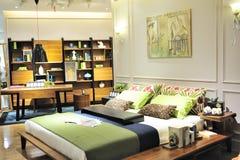 Het meubilair van de slaapkamer toont Royalty-vrije Stock Fotografie
