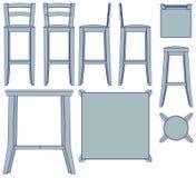 Het meubilair van de Staaf van de blauwdruk Royalty-vrije Stock Afbeeldingen