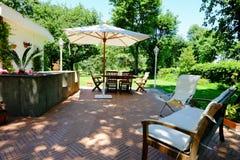 Het meubilair van de terrastuin Stock Afbeelding
