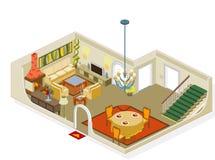 Het meubilair van de woonkamer Stock Afbeelding
