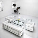 Het Meubilair van de woonkamer in de Studio van de Fotografie Royalty-vrije Stock Foto