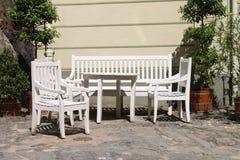 Het meubilair van het terras openlucht Royalty-vrije Stock Afbeeldingen