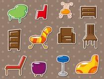 Het meubilairstickers van het beeldverhaal Stock Fotografie
