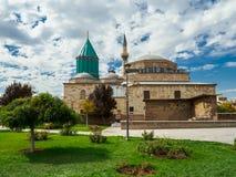 Het Mevlana-Museum in Konya-stad, Turkije stock afbeeldingen