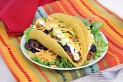 Het Mexicaanse Diner van de Taco Stock Foto