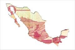 50 het Mexicaanse omgekeerde van het pesobankbiljet in vorm van Mexico royalty-vrije illustratie