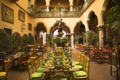 Het Mexicaanse Restaurant Queretaro Mexico van de Binnenplaats Royalty-vrije Stock Afbeelding
