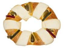 Het Mexicaanse Traditionele Brood van Drie Koningen Stock Afbeeldingen