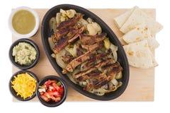 Het Mexicaanse voedsel van rundvleesfajitas Royalty-vrije Stock Foto