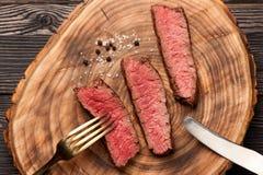 Het middel van het rundvleeslapje vlees Stock Foto
