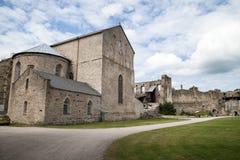 Het middeleeuwse Bisschoppelijke Kasteel van Haapsalu, Estland Royalty-vrije Stock Foto's