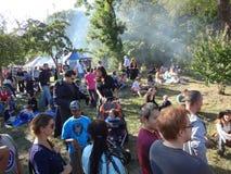 Het Middeleeuwse Festival van 2013 bij Park 24 van Forttryon Stock Foto
