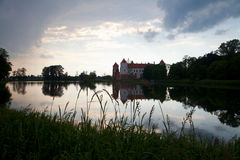 Het kasteel van avondMir, Wit-Rusland Royalty-vrije Stock Afbeelding