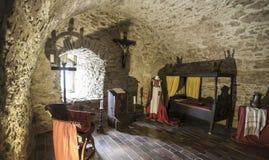 Het middeleeuwse Kasteel Spissky hrad Slowakije van slaapkamer binnenlandse Zipser stock afbeeldingen