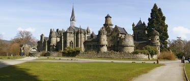 Het middeleeuwse kasteel van de fee stock foto