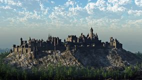 Het middeleeuwse Kasteel van de Heuveltop Royalty-vrije Stock Afbeeldingen