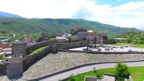 Het middeleeuwse kasteel van het Jakelikasteel complex in Akhaltsikhe, Rabati-Kasteel, Georgië Lomisakasteel stock footage