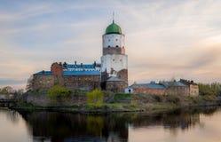 Het Middeleeuwse kasteel van Viborg stock foto's