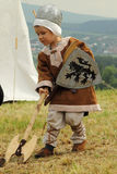 Het middeleeuwse leven Stock Foto