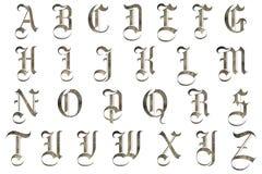 Het Middeleeuwse Ontwerp van het Scrapbookingsalfabet Stock Foto