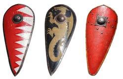 Het middeleeuwse Schild van de Ridder Stock Afbeelding