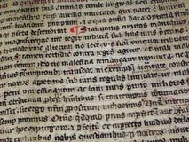 Het middeleeuwse schrijven Stock Foto