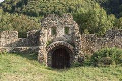 Het middeleeuwse vestingwerk van het steenmetselwerk, poort royalty-vrije stock foto's