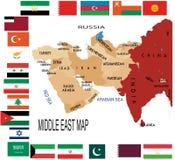 Het Midden-Oosten royalty-vrije illustratie