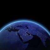 Het Midden-Oosten bij nacht Royalty-vrije Stock Afbeelding
