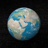 Het Midden-Oosten op 3D aarde - geef terug Stock Foto's