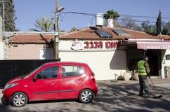 Het Midleoosten bier-Sheva, Israël 29 februari, de bedrijven hom-Hanegev Stock Foto's