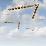 Het migreren aan Nieuwe Markten royalty-vrije illustratie