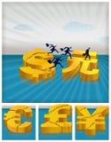 Het migreren investeringen Stock Afbeelding