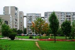 Het milieu van het districtshuizen van Pasilaiciai van de Vilniusstad stock foto